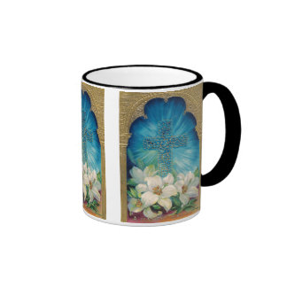 Easter With Cross and Lilies Coffee Mug