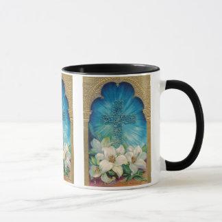 Easter With Cross and Lilies Mug