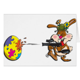 EasterB16 Paintball bunny Greeting Card