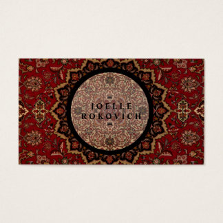 Eastern Accent Vintage Persian Carpet Pattern Business Card