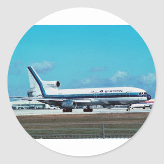 "EASTERN AIRLINES Lockheed L-1011 ""Whisperliner"" Classic Round Sticker"