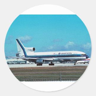 """EASTERN AIRLINES Lockheed L-1011 """"Whisperliner"""" Round Sticker"""