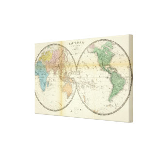 Eastern and Western Hemispheres Canvas Print