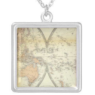 Eastern and Western Hemispheres Silver Plated Necklace
