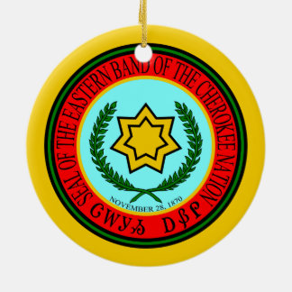 Eastern Band Of The Cherokee Seal Christmas Ornament