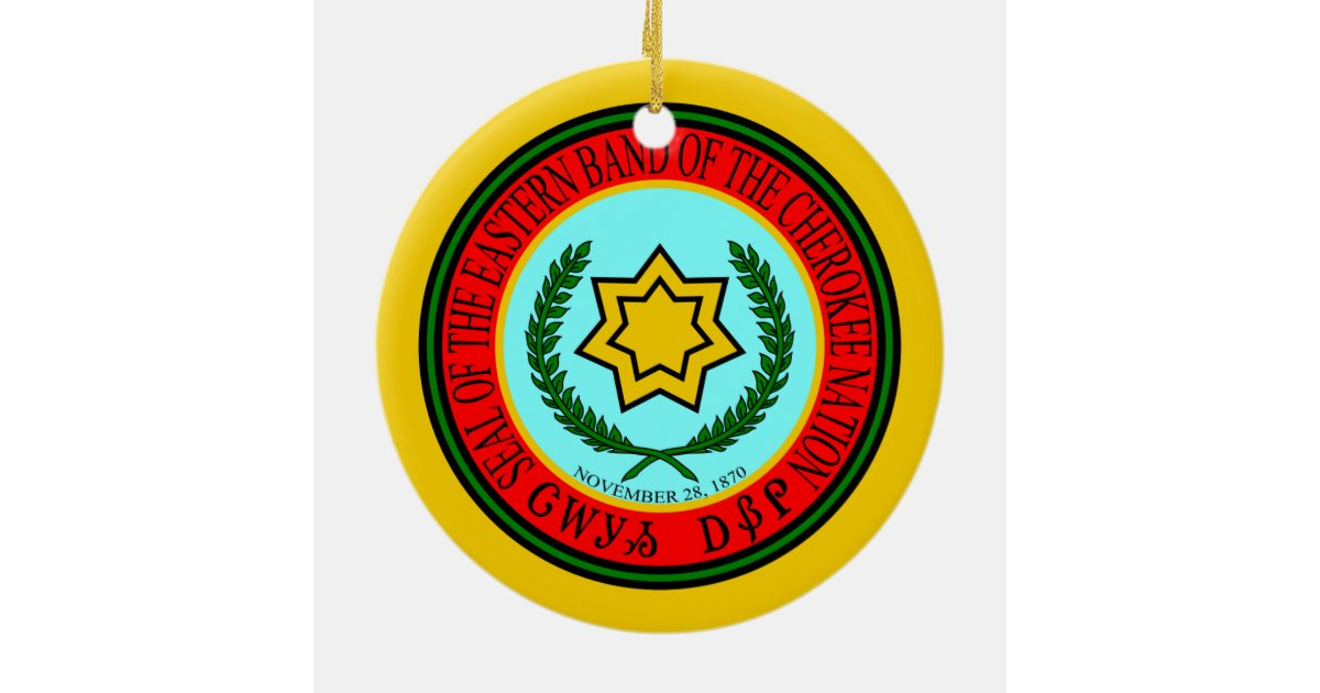 Eastern Band Of The Cherokee Seal Christmas Ornament ...