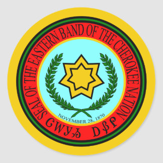 Eastern Band Of The Cherokee Seal Round Sticker