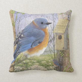 Eastern Blue Bird throw pillow