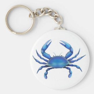 Eastern Blue Crab Basic Round Button Key Ring