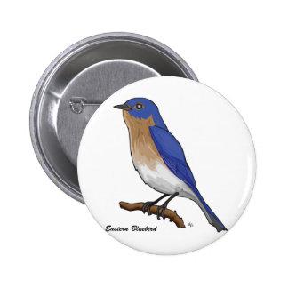 EASTERN BLUEBIRD 6 CM ROUND BADGE