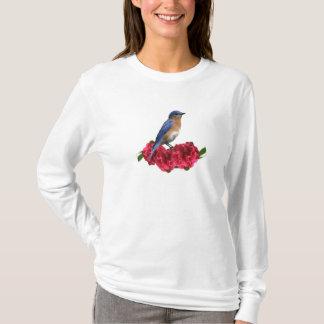 Eastern Bluebird Camellia T-Shirt
