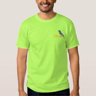 Eastern Bluebird Embroidered T-Shirt