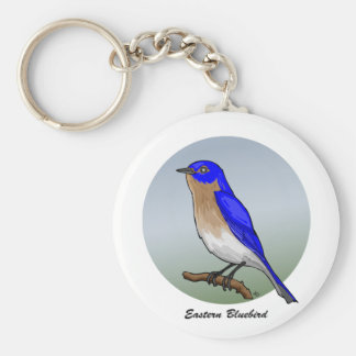 Eastern Bluebird rev 2 0 Buttons and Flair Keychains