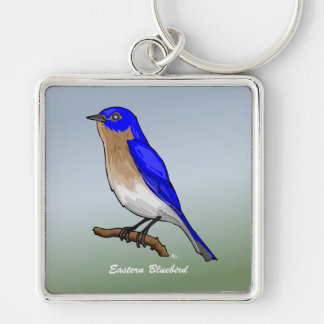 Eastern Bluebird rev 2 0 Buttons and Flair Keychain