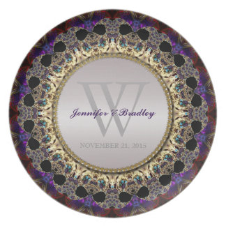 Eastern Bohemian Art Wedding Keepsake Gift Plate