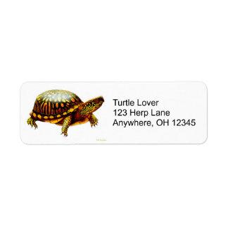 Eastern Box Turtle Label Return Address Label