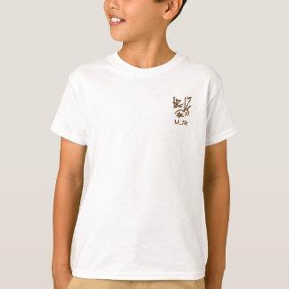Eastern Calligraphy Glyphs - Satin Oranges, Browns T-Shirt