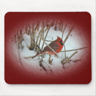 Eastern Cardinal Songbird Coordinating Items Mouse Mat