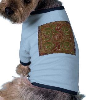 Eastern Chinese Golden GOODLUCK Art GIFTS FUN Doggie T Shirt