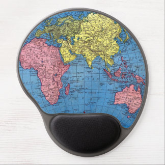 Eastern Continents World Map Gel Mousepad Gel Mouse Mat