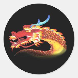 Eastern Dragon Classic Round Sticker