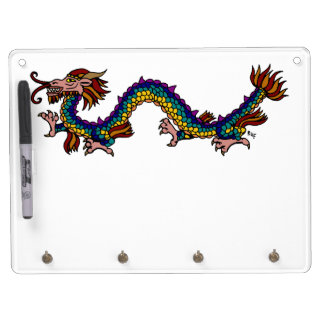 Eastern Dragon Dry Erase Board With Key Ring Holder
