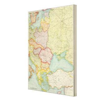 Eastern Europe communications Stretched Canvas Print