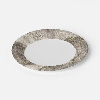 Eastern Europe, Norway Paper Plate