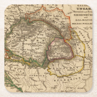 Eastern Europe Square Paper Coaster