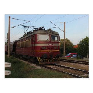 Eastern European Goods Train Postcard