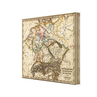 Eastern European Map Canvas Print