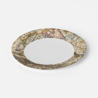 Eastern European Map Paper Plate