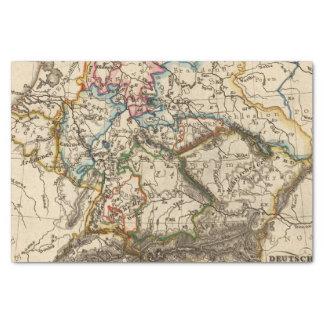Eastern European Map Tissue Paper