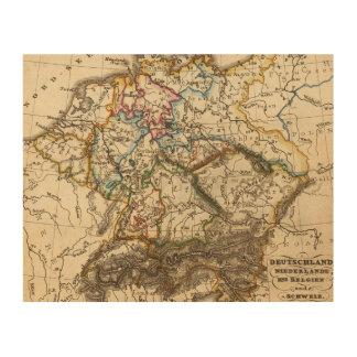 Eastern European Map Wood Wall Art