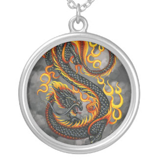 Eastern Fire Dragon Necklace