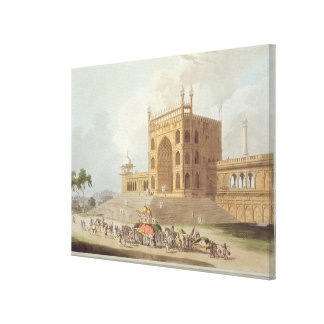 Eastern Gate of the Jummah Musjid at Delhi, from ' Canvas Print