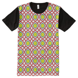 Eastern geometric floral pattern All-Over print T-Shirt
