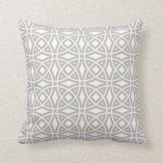 Eastern Geometric Pattern in Gray and White Cushion