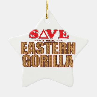 Eastern Gorilla Save Christmas Ornament