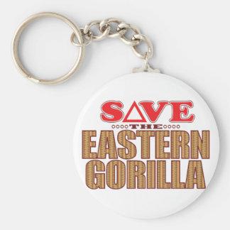 Eastern Gorilla Save Key Ring