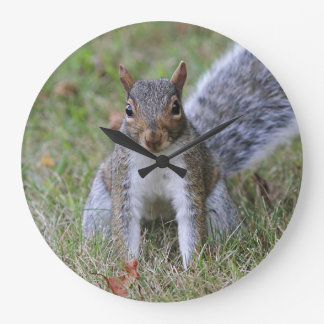 Eastern Gray Squirrel Large Clock