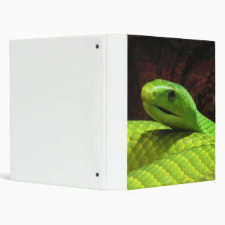 Eastern Green Mamba Dendroaspis Angusticeps 3 Ring Binders