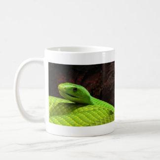 Eastern Green Mamba Dendroaspis Angusticeps Basic White Mug