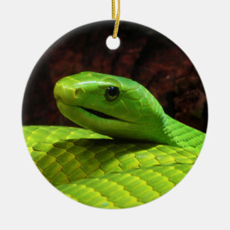 Eastern Green Mamba Dendroaspis Angusticeps Christmas Tree Ornament
