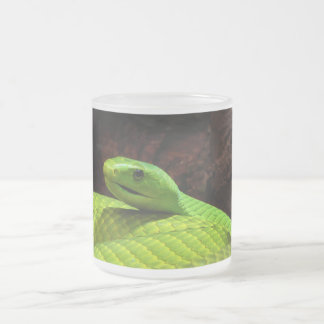 Eastern Green Mamba Dendroaspis Angusticeps Frosted Glass Mug