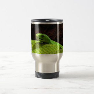 Eastern Green Mamba Dendroaspis Angusticeps Stainless Steel Travel Mug