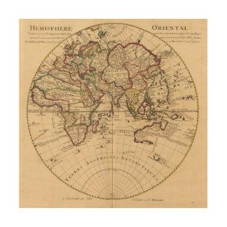 Eastern Hemisphere 12 Wood Print