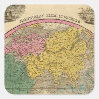 Eastern Hemisphere 14 Square Sticker