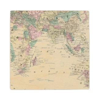 Eastern Hemisphere 14 Wood Coaster