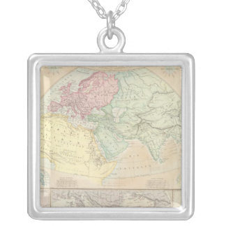 Eastern Hemisphere 2 Silver Plated Necklace